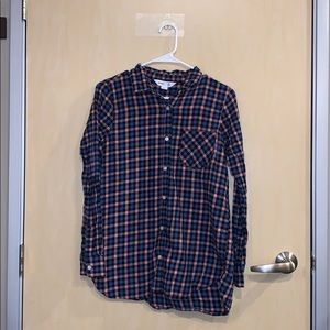 Old Navy Plaid Flannel The Tunic Shirt